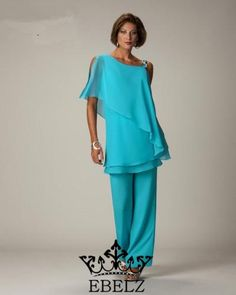 Wholesale Mother Of The Bride Dresses - Buy !New Arrival High Quality A Line Modern Formal Dress Long Sleeves Mother of the Bride Pant Suits Pant Set Custom Made DH049, $81.68 | DHgate