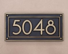 JDRS Craftsman's custom carved and hand finished address plaque with metal coating. House Address, Address Plaque, Address Signs, Address Numbers, Craftsman House Numbers, Craftsman Style Homes, Brass Plaques, Art Deco Home, Home Reno