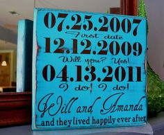 Couple Personalized Engagement Gift Custom Wedding by CSSDesign, $25.00