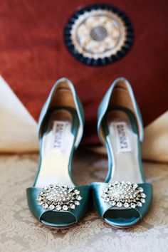 Blue Wedding Shoes - photo by Carrie Chow Photography