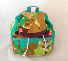 Kids Squirrel School Rucksack / Backpack Bag by PippalillyShop