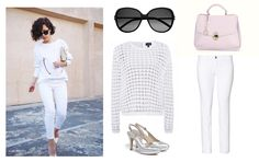 Dress to impress, with Clara-Veritas!  Shoes and Handbag - Clara-Veritas Trousers - UNITED COLORS OF BENETTON Sweater - Armani Jeans Sunglasses - Yves Saint Laurent