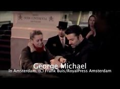 George Michael getting make up on the set of his comeback video - YouTube