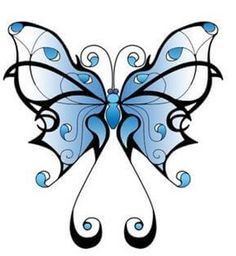 Lovely Blue Shade Tribal Butterfly Sketch for Tattoo, Tribal Butterfly Tattoo Designs Tribal Butterfly Tattoo, Butterfly Sketch, Blue Tattoo, Butterfly Tattoo Designs, Tattoo Designs For Girls, Butterfly Art, Butterfly Design, Art Papillon, 3d Quilling