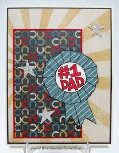 Handmade Father's Day Card, #1 Dad Card by Savvy Handmade Cards, FMS239