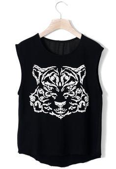 Black Tiger Muscle Tee
