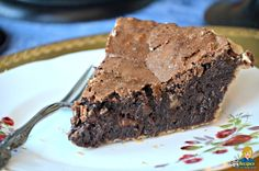 This is not a Chocolate Pie and it is not a Brownie Pie. This pie is the best gooey Chocolate Fudge Pie with Pecans ever. It is also my Favorite Pie! Chocolate Fudge Pie, Chocolate Pie Recipes, Chocolate Pastry, Pecan Recipes, Best Chocolate, Melting Chocolate, My Recipes, Cookie Recipes, Unsweetened Chocolate