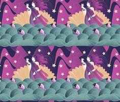 The Birth Of Aphrodite fabric by kociara on Spoonflower - custom fabric