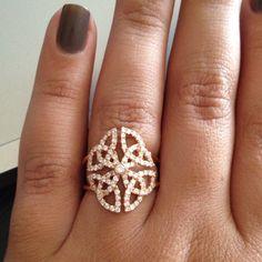 Machalka Pink Gold and Diamond ring