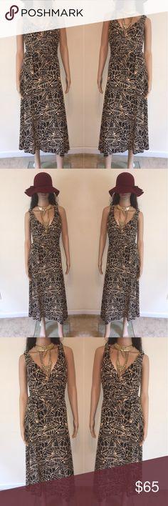 🌻 Jones New York Wrap Dress Jones New York V-neck Print Wrap Dress Jones New York Dresses Midi