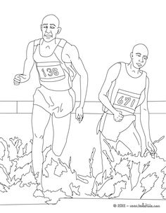 Steeplechase Athletics Coloring Page More Sports Pages On Hellokids