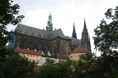 The imposing castle grounds in Prague