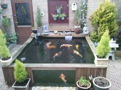 Afbeeldingsresultaat voor zelfgemaakte tuinvijver