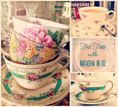 Tea Time with Natasha in Oz and some Tea Cup Candles.