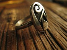 A beautifully crafted Sterling Silver modernist style Zuni ring get it at IronCrowVintage, $60.00