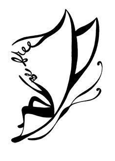 Be Free Butterfly Symbol Tattoos, Line Tattoos, All Tattoos, Body Art Tattoos, Tribal Tattoos, Tatoos, Independence Symbol, Independent Tattoo, Outline Designs