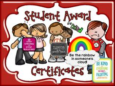 FREE UNIQUE Student Award Certificates for Any Time of Year! Enter for your chance to win 1 of 2. UNIQUE Student Award Certificates for Any Time of Year...Great Incentives! (62 pages) from Sparkling in Kindergarten on TeachersNotebook.com (Ends on on 5-15-2015) This set of Unique Student Award Certificates have 29 certificates with a boy and a girl version for EACH one with clipart that matches. So....this means there's 58 certificates in all and they are as cute as can be and cover all…
