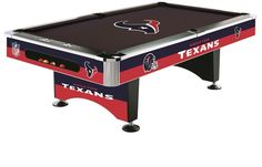 Houston Texans NFL Pool Table is the ultimate addition to any Game Room. Houston Texans Fans this NFL Team Pool Table is High Quality Denver Broncos Football, Nfl Denver Broncos, Broncos Fans, Billiard Factory, Houston Texans Football, Home Bar Accessories, Tampa Bay Rays, Nfl Shop, Atlanta Falcons