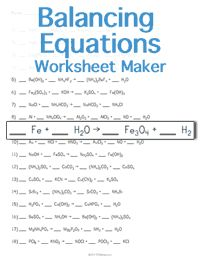 a worksheet maker for high school balancing chemical equations. Chemistry Classroom, Teaching Chemistry, Science Chemistry, Physical Science, Biology Teacher, Science Geek, Ap Biology, Organic Chemistry, Earth Science