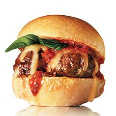 Italian Meatball Sliders   CookingLight.com #myplate #protein #dairy