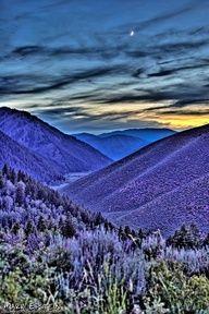 periwinkle blue in Sun Valley, Idaho