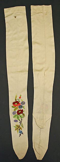 Stockings  Date: 19th century Culture: French Medium: silk