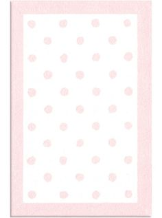 This Kids Polka Dots Pink Collection pastel tone rug (11408) is manufactured by The Rug Market.