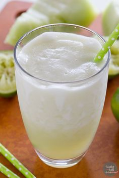 and tell honeydew lime smoothie perfect for summer this honeydew lime ...