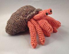 Amigurumi Hermit Crab : Herman the Hermit Crab - Amigurumi Plush Crochet PATTERN ...