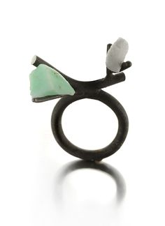 Catalina Brenes - MORFOSI SERIES RING, 2011. Silver, Carrara marble and turquoise