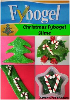 Christmas Fybogel Slime. Easy to make slime using household ingredients. Perfect Christmas slime.