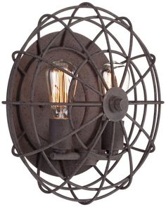 "Industrial Cage 14"" Wide Dark Rust Wall Sconce Unknown,http://www.amazon.com/dp/B0093KAVK2/ref=cm_sw_r_pi_dp_7IcHtb0PSWFM4SPA"