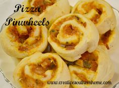 Easy Pizza Pinwheels.  www.creativesouthernhome.com