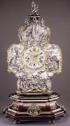 Movement by Franz Xaver Gegenreiner and silver by Johann Andreas Thelot: Mantel Clock (Telleruhr) (46.162) | Heilbrunn Timeline of Art Histo...