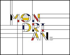 Mondrian | Free Font on Student Show