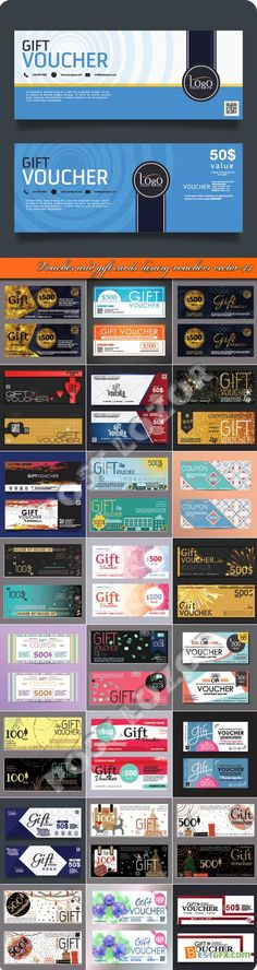 Voucher and gift cards luxury vouchers vector 44