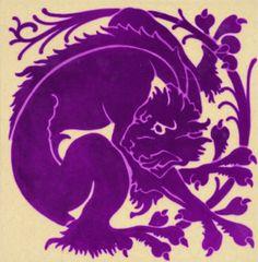 Arts Crafts violet purple amethyst Cat Panther Leopard Tiger
