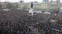 More than a million people take part in a unity march in Paris after 17 people were killed during three days of deadly attacks in the French capital.
