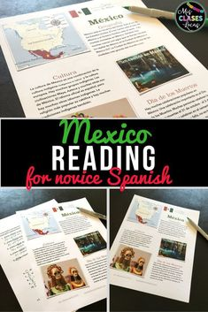 Novice Spanish cultural reading about Mexico, including the Day of the Dead. It is perfect to intro the novel Tumba! #DayoftheDead #Diadelosmuertos #Mexico