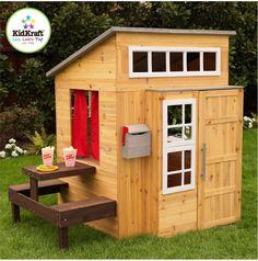 Wooden Playhouse Outdoor Kids Boys Kidkraft Outside Backyard Tiny House Sale