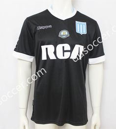 2017-18 Racing Club de Avellaneda Away Black Thailand Soccer Jersey AAA