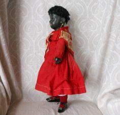 All Original Simon & Halbig Black Bisque Character Doll - Lynette Gross Antique Dolls, LLC #dollshopsunited