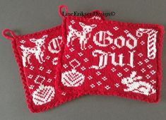 "Ravelry: Jul i skogen pattern by Line Eriksen ""Christmas in the Woods"" Knitting Charts, Knitting Patterns, Crochet Pattern, Knit Crochet, Fair Isle Knitting, Scandinavian Christmas, Christmas Knitting, Drops Design, Double Knitting"