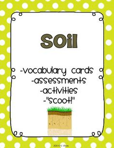 Rocks and minerals soil study for 3rd grade but could for Soil facts for 4th grade