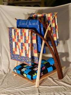 The Penultimate Woodshop: Lill's Quilt Rack: Part XII, Finishing