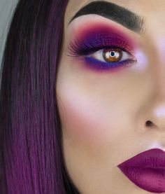 "17.4k Likes, 214 Comments - 💃🏻F R A N C E S C A💃🏻 (@littledustmua) on Instagram: ""💜PURPLE HAZE💜  Products used: 💃🏻Eyes with  @smashboxcosmetics Covershot palette and @sugarpill…"""