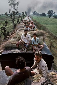 "Near Calcutta, India. From the photo series ""Trains"" by Steve McCurry."