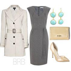 Grey Dress & Trench