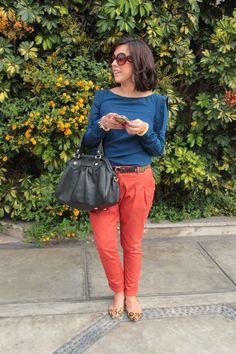 Leopard, Orange & Blue (: