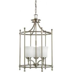 Three Light Foyer Chain Hung Kichler Wharton 17 w x 28.5 h 460